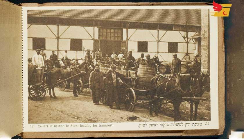 Osmanlı İmparatorluğunda ulaşım, haberleşme. Filistinde taşımacılar, 1900.